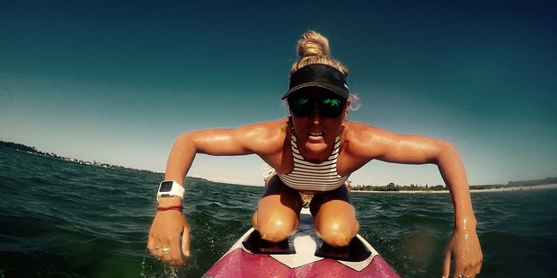 Juliana Bahr-Thompson will paddle by hand for 43 days straight. Photo / mermaidwithamessage.com.au