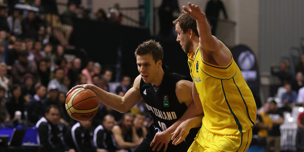 Tom Abercrombiein action against Australia. Photo / Getty Images