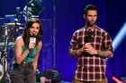 Maroon 5 singer Adam Levine (right) has offered to pay for the funeral of The Voice finalist, Christina Grimmie. Photo / Getty Images