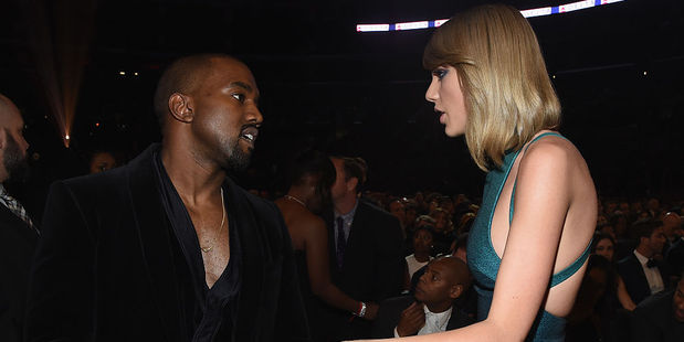 Loading Taylor quickly slammed Kayne West in her Grammys acceptance speech, but now Kim Kardashian is insisting that she in fact HAD approved the lyrics. Photo / Getty Images