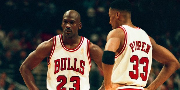 Michael Jordan and Scottie Pippen. Photo / Getty Images