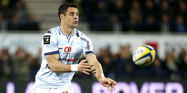 Dan Carter in action for Racing 92. Photo / Getty