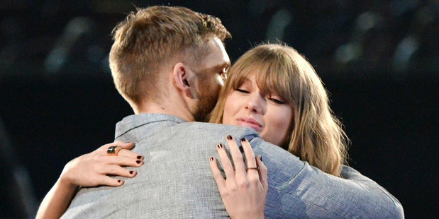 Recording artists Calvin Harris and Taylor Swift at the iHeartRadio Music Awards on April 3, 2016. Photo / Getty Images