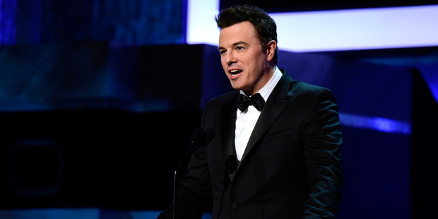 Seth MacFarlane used Twitter to call for a ban on automatic weapons. Photo / Getty Images