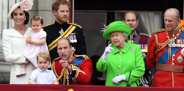 The royal family on the balcony during Trooping the Colour ceremony. Photo / Getty Images