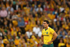 Wallabies halfback Nick Phipps during Australia's match against England in Brisbane on Saturday. Photo / Getty Images