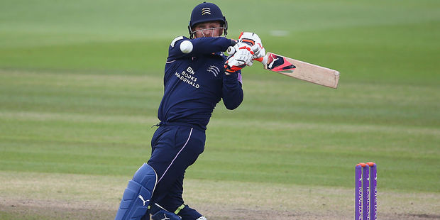 Brendon McCullum in action for Middlesex. Photo / Getty