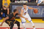 Stephen Curry handles the ball against Tristan Thompson in Game Five of the NBA Finals. Photo / Getty Images