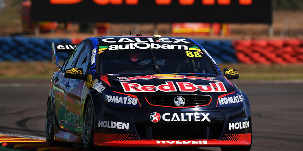 Jamie Whincup during V8 Supercars practice ahead of the Darwin Triple Crown. Photo / Getty Images