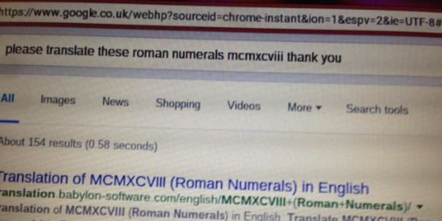 An 86-year-old's Google search has become an internet hit. Photo / Twitter