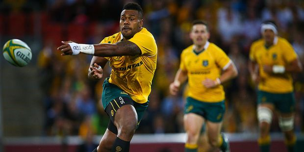 Stephen Larkham has high praise for Wallabies second five eighth Samu Kerevi. Photo / Getty Images