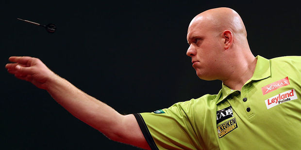 Darts World No 1 Michael Van Gerwen. Photo / Getty Images