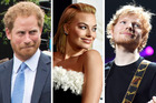 Prince Harry wasn't too happy about Margot Robbie confusing him for Ed Sheeran. Photo / AP, Getty Images