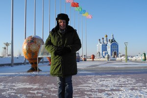 Tiana Templeman has had the chance to visit many exotic locales - here in Manzhouli, Inner Mongolia. Pic supplied.