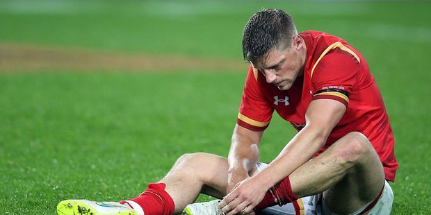 Loading Rhys Priestland of Wales looks dejected after losing to the Chiefs in Hamilton 40-7. Photo / Getty Images