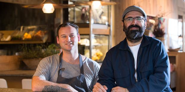 Head Chef, Andy Graham (left) and Executive Chef Javier Carmona at Oaken restaurant in Britomart, Auckland. Photo / Nick Reed