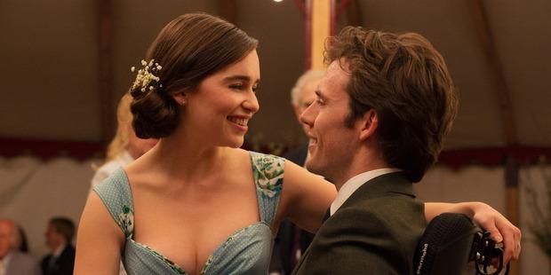 Emilia Clarke and Sam Claflin in Me Before You.
