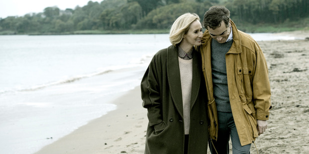 Hazel Buchanan (played by Genevieve O'Reilly) and Colin Howell (played by James Nesbitt) in The Secret.