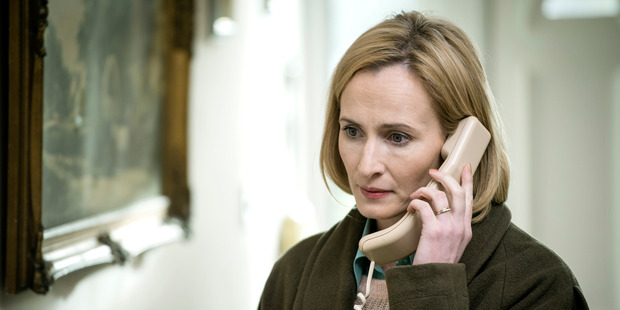 Hazel Buchanan, played by Genevieve O'Reilly in a scene from the TV show, The Secret.