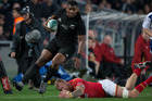 New Zealand All Blacks winger Waisake Naholo in action against Wales during the 1st test match between the All Blacks and Wales. Photo / Nick Reed.