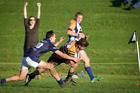 Scott Tallot scores for Greerton Marist against Te Puna in a Premier 1 game on Saturday. Photo / Andrew Warner