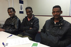 Eritrean refugees Muhyaddin Salih, Sali Ahmed Saharia and Idrees Idrees. Photo / Simon Collins