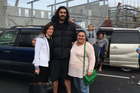 Steven Adams poses with fans in Rotorua today. Photo / Supplied