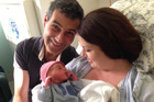 Anna Leese Guidi and husband Stefano Guidi with baby Matteo. Photo / Facebook