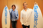 Surfstitch founders Lex Pedersen (L) and Justin Cameron. Photo / News Corp