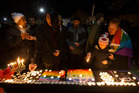 Aucklanders, gay and LGBTIQ supporters gathered for a candle vigil for the victims of the Orlando shooting, at Western Park, Ponsonby, Auckland. Photo / Brett Phibbs