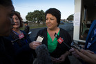Social Housing Minister Paula Bennett made a 20-minute visit to Te Puea Marae today. Photo / Brett Phibbs