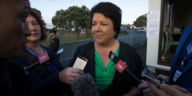 Loading Social Housing Minister Paula Bennett made a 20-minute visit to Te Puea Marae today. Photo / Brett Phibbs
