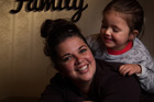 Rotorua Parents Centre committee member Janelle Paki with daughter Ashlee, 4,  Photo / Stephen Parker
