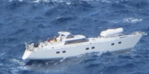 Southern Lily rescue crew from the stricken yacht Platino. Photo / via Facebook