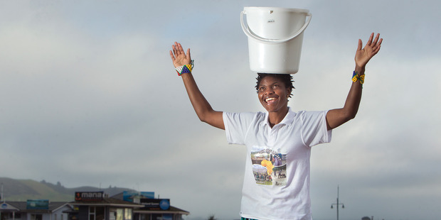 Loading Faustinah Ndlovu is aiming to walk 21km with a 20 litre bucket of water on her head next month, starting at the lakefront. PHOTO/BEN FRASER