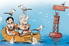 It is a tricky time for the leaders of the Act and United Future. Illustration / Rod Emmerson