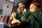 Te Kuiti High School students (from left) Justez Howe, Trent Ammon, Tarshaye Ryder and Sydney Karaitiana are part of a committee at their school to combat cyberbullying. Photo / Alan Gibson