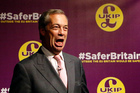 UK Independence Party (UKIP) party leader Nigel Farage is a leading campaigner advocating Britain to cut its ties with the rest of Europe. Photo / AP