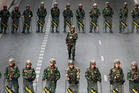 Thai soldiers pictured in Bangkok. Photo / AP