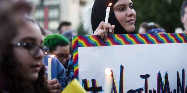Muslims say the Orlando massacre was an act against humanity. Photo / AP