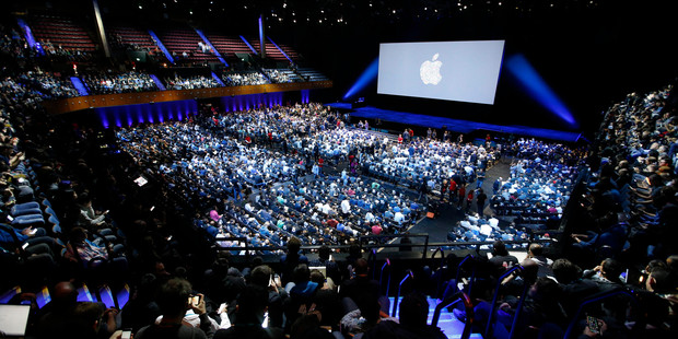 New hardware like the iPhone 7 wasn't mentioned at Apple's software conference. Photo / AP