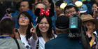 Visitors flocked to the opening day of the Disney Resort in Shanghai, China. Photo / AP