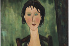 The unidentified painting that is under investigation to determine whether it is an authentic work by Italian 20th century master Amedeo Modigliani. Photo / AP