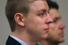 Brock Turner accompanied by his father Dan Turner. Photo / AP