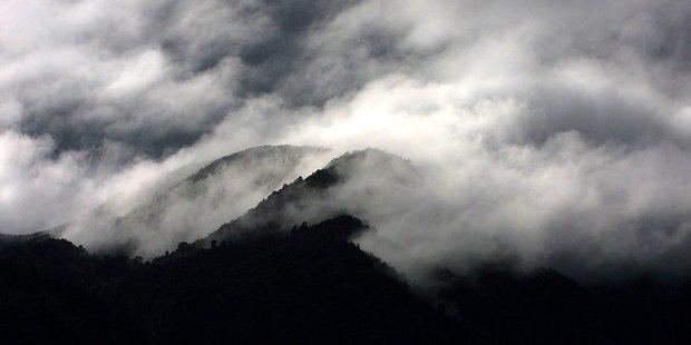 Fog shrouding the Kaimai Range: Bay of Plenty air quality data is now available on LAWA website. Photo/file