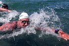 Kane Radford in action in last year's open water championships in Taupo. PHOTO/BW Media