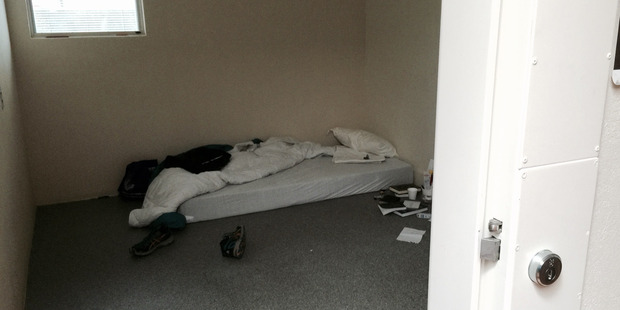 An example of a seclusion room at a government run mental health facility . Ashley Peacock has been held in a room similar to this for years. Photo / Supplied