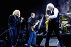 Robert Plant, John Paul Jones, Jimmy Page, Jason Bonham of Led Zeppelin. Photo / AP