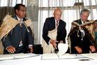 Sir Matiu Nohorua Te Rei, centre, originally from Rotorua, has been knighted for his services to Maori. Photo/File