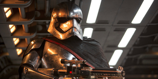 Gwendoline Christie stars as Captain Phasma in the movie, Star Wars: The Force Awakens.